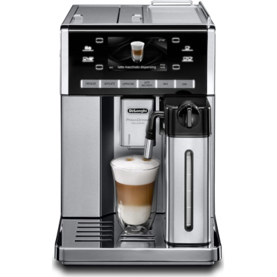 Image of DeLonghi Prima Donna Exclusive Bean to Cup Coffee Machine ESAM6900.M Black & Stainless Steel