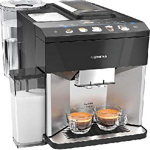 Image of Siemens Fully Automatic EQ.500 Bean to Cup Coffee Machine TQ507DF3 Black & Stainless Steel