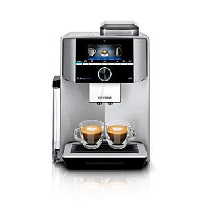 Image of Siemens Plus Connect EQ.9 Bean to Cup Coffee Machine S500 TI9555X1DE Black & Stainless Steel