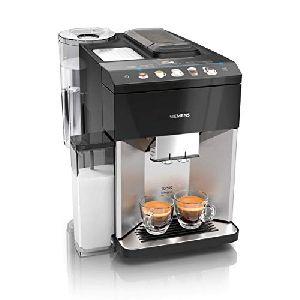 Image of Siemens Fully Automatic Bean to Cup Coffee Machine TQ507D03 Black & Stainless Steel