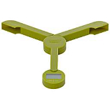 Image of Joseph Joseph Foldable Triscale Green