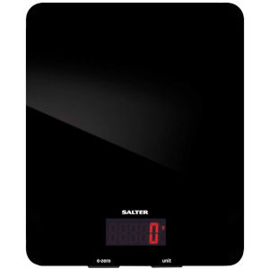 Image of Salter 5kg Glass Electronic Kitchen Scales - Black