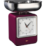 Image of Wesco Blackberry Steel Retro Mechanical Kitchen Scale