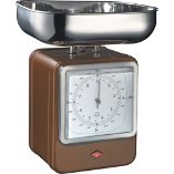 Image of Wesco Chocolate Brown Steel Retro Mechanical Kitchen Scale