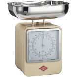Image of Wesco Cream Steel Retro Mechanical Kitchen Scale