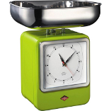 Image of Wesco Green Steel Retro Mechanical Kitchen Scale