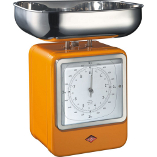 Image of Wesco Orange Steel Retro Mechanical Kitchen Scale