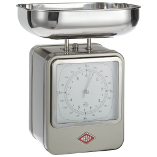 Image of Wesco Silver Steel Retro Mechanical Kitchen Scale