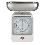 Image of Wesco White Steel Retro Mechanical Kitchen Scale