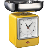 Image of Wesco Yellow Steel Retro Mechanical Kitchen Scale